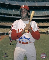 JOHNNY BRIGGS SIGNED 8X10 PHILLIES PHOTO