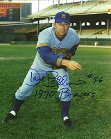 DAVE BALDWIN SIGNED 8X10 BREWERS PHOTO