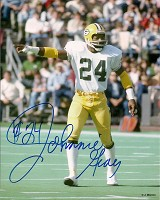 JOHNNIE GRAY SIGNED 8X10 PACKERS PHOTO