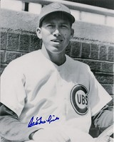CAL McLISH (d) SIGNED 8X10 CUBS PHOTO
