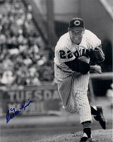 CAL McLISH (d)SIGNED 8X10 INDIANS PHOTO