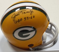 JIM TEMP SIGNED PACKERS TB MINI HELMET