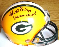 MIKE PRIOR SIGNED PACKERS MINI HELMET
