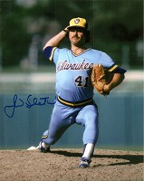 JIM SLATON SIGNED 8X10 BREWERS PHOTO #3