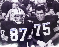 FORREST GREGG & WILLIE DAVIS SIGNED 16X20 PHOTO