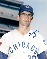 DON YOUNG SIGNED 8X10 CUBS PHOTO