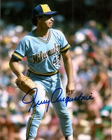 JERRY AUGUSTINE SIGNED 8X10 BREWERS PHOTO #1