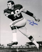 TOM BROWN SIGNED 8X10 PACKERS PHOTO #1