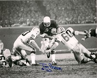TOM BROWN SIGNED 8X10 PACKERS PHOTO #4