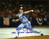 MIKE CALDWELL SIGNED 8X10 BREWERS PHOTO #2 W/ SCRIPT