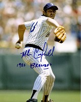 MIKE CALDWELL SIGNED 8X10 BREWERS PHOTO #1 W/ SCRIPT