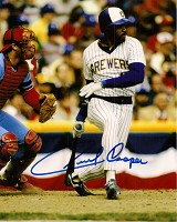 CECIL COOPER SIGNED 8X10 BREWERS PHOTO #2