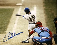 CECIL COOPER SIGNED 8X10 BREWERS PHOTO #3
