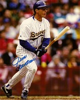 JIM GANTNER SIGNED 8X10 BREWERS PHOTO #1