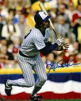 GORMAN THOMAS SIGNED 8X10 BREWERS PHOTO #2
