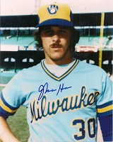 MOOSE HAAS SIGNED 8X10 BREWERS PHOTO #5