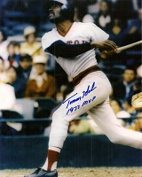 TOMMY HARPER SIGNED 8X10 RED SOX PHOTO