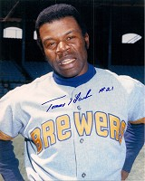 TOMMY HARPER SIGNED 8X10 BREWERS PHOTO #1