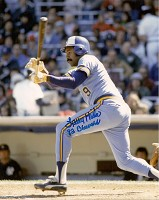 LARRY HISLE SIGNED 8X10 BREWERS PHOTO #2
