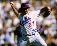 DOUG JONES SIGNED 8X10 CUBS PHOTO