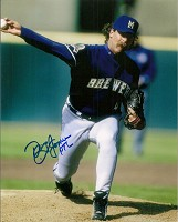 DOUG JONES SIGNED 8X10 BREWERS PHOTO