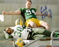 BOB KUBERSKI SIGNED 8X10 PACKERS PHOTO