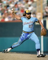 PETE LADD SIGNED 8X10 BREWERS PHOTO #1