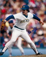 BOB McCLURE SIGNED 8X10 BREWERS PHOTO #1