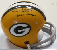 TOM MOORE SIGNED MINI HELMET