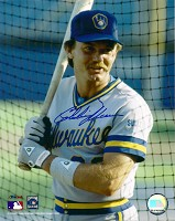 CHARLIE MOORE SIGNED 8X10 BREWERS PHOTO #2