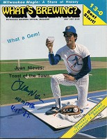 JUAN NIEVES SIGNED BREWERS WHATS BREWING MAGAZINE