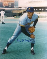 KEN SANDERS SIGNED 8X10 BREWERS PHOTO