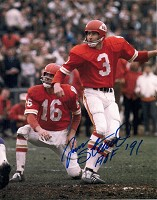 JAN STENERUD SIGNED 8X10 CHIEFS PHOTO