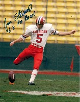 JAN STENERUD SIGNED 8X10 PRO BOWL PHOTO