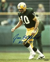 JAN STENERUD SIGNED 8X10 PACKERS PHOTO